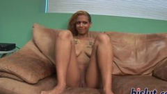 Kinky black bimbo simply loves stripping down