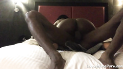 Slut cant get enough of her boyfriend's black cock