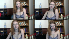 CoffeeNbooks rub her pussy through her panties, than i stuff her panties into her pussy and finger herself, til they get all wet in free webcam show 2017-05-14 74514