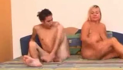 Mature mother fucks her son after she caught him with porn magazine---www.thefamilysextube.com