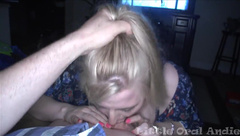 The Party Girl - Giggling Blonde Gets A Birthday Mouthful FUNNY! - CamWhoresTV.PremiumVideo
