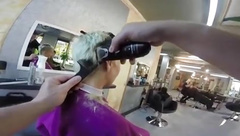 Mandy gets a sex haircut