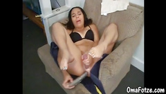 OmaFotzE Amateur Mature Double Hole Toy Selffuck