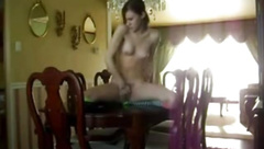 Masturbating on the dining room table