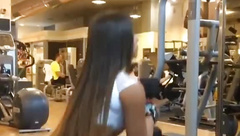 Sexy Israeli Girl at the gym pt2