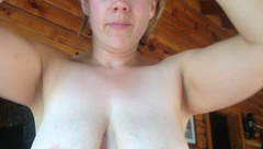 floppy tits jenny riding cock with saggy tits bouncing