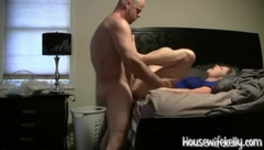 Blonde hotwife takes huge cock and facial