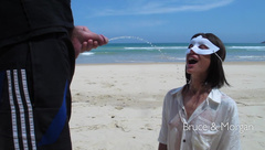 Bruce And Morgan - Public Piss Drinking And Cum Facial On The Beach [17.04.18]