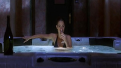 Denise Richards relaxes in hot tub in movie Valentine