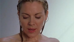 Kim Cattrall fucks and takes a shower in Sex And City