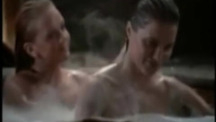 Lucy Lawless naked in hot tub in Xena