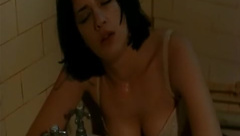 Asia Argento naked on bed and in bathtub in Monkey