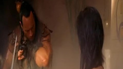 Kelly Hu wet and topless in The Scorpion King