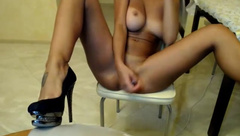 barrrbi full nude pussy fuck and dildo sucking show