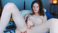 Sexy Brunette Tranny Fucks Her Tight Ass