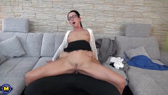 Young moms suck and fuck huge dicks