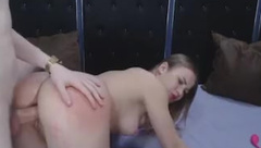 She Moans Loud While Getting Anal Fucked