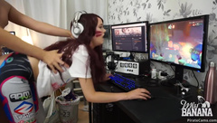 MISS BANANA – D.VA HAVING A QUICKIE WHILE GAMING