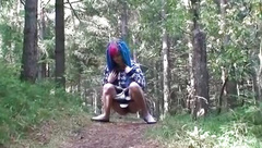 punk girl with period pad pissing 2