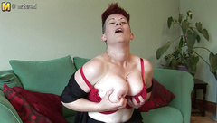 Hairy Busty Modern Mom Home Alone