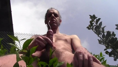 HOT HUGE CUM OUTDOOR IN PUBLIC - HOMEMADE HAIRY AMATEUR SOLO - LUCA BIANCHI