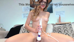Naughty lady with wet pussy and squirting dildo