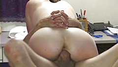 Hardbodied Teenager Rides Dirty Old Man's Big White Cock BWC