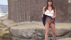 Teen Good Girl Flashes Her Tits Ass %26 Pussy at The Beach