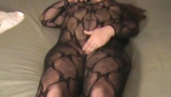 Check My MILf - BBW amateur wife in bodystockings and toy