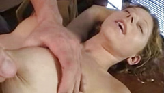 Busty chick Kiki getting fingered after interview