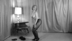 Cutie Doing Naughty Moves on Music (1960s Vintage)