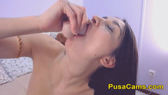 Young Amateur Russian Teen Cam With Her Teddy Bear