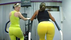 Big Phat Juicy Booties At The Gym