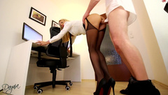 Daynia -Anal for the bossy office arsehole