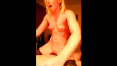 Husband encourages wife to cum on his friends cock