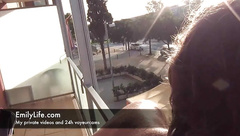 Live Blowjob and fucking just above the breakfast restaurant