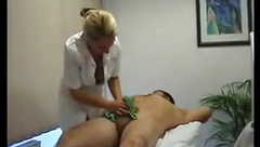 MASSAGE TURNS IN TO LOVELY FUCK AND CUM