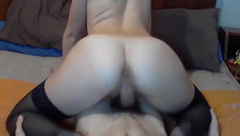 Nice clean cock ride with PTM on webcam