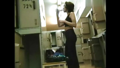 cute woman in lockers.mp4