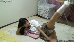 Japanese Schoolgirl Private Open Leg Exercise