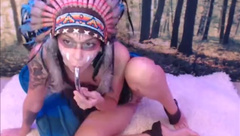 native girl masturbate with vibrator