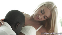Lovely eurobabe pounded by black cock