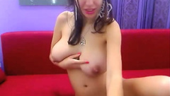 Cam girl teases with her monster titties 2