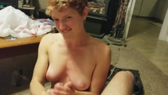 Juicy Jen loves the huge cum with her first boobjob