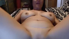 Cheating busty chubby wife with a pierced navel