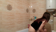 Hidden cam in the shower redhead teen caught on spy camera masturbation v2