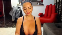 My new stepmom has big lovely boobs and shes always wet
