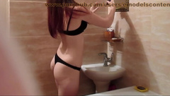 Hidden cam in the shower redhead teen caught on spy camera masturbation v1