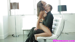 Young couple make passionate love