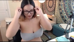 Asian Flashing Big Natural Boobs